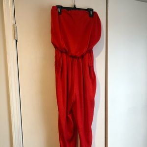 ASTR red jumpsuit XS